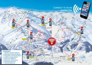 WLAN Hotspots im Skigebiet Soelden