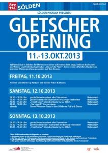 Soelden Gletscheropening 2013 - Programm