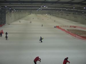 Von innen sieht der Snowdome Bispingen durchaus beeindruckend aus...